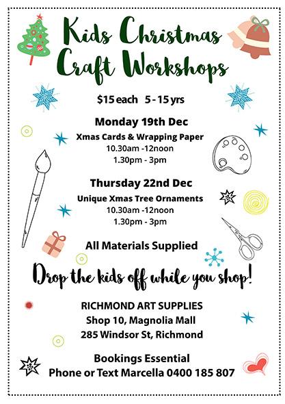 richmond-art-supplies-kids-christmas-craft-workshop-2016-december-richmond-australia