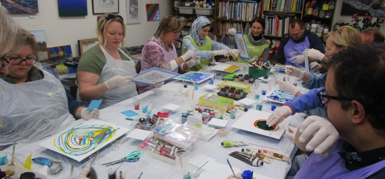 New Acrylic Pouring Introduction Workshop – Saturday – 22nd February