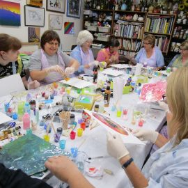 Reminder: Acrylic Pouring Introduction Workshop – Saturday – 22nd February