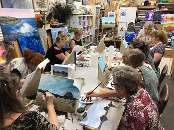 Reminder: Holiday Art Class – Modern Acrylic Landscape Painting with Deidre – 9th January