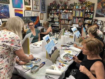 Holiday Art Class – Modern Acrylic Landscape Painting with Deidre – 9th January