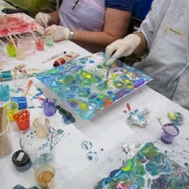 Acrylic Pouring Introduction Workshop – Saturday, 26th June 2021