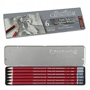 Cretacolour Graphite Pencils set of 6