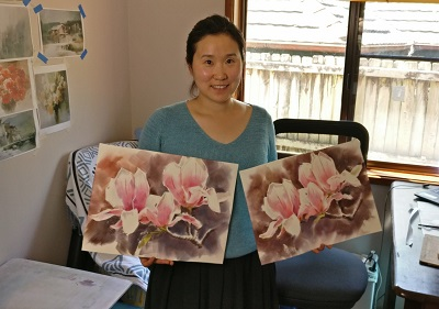 MTAS Monthly Demo Meeting, 10th Nov – Danni Liu – Watercolour Painting Red Rose