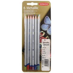 Derwent Metallics Pencil Set of 6