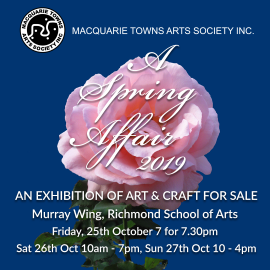 Reminder: MTAS Annual Spring Exhibition 25th – 27th October 2019