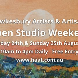 HAAT Open Studio Weekend 10am – 4pm 24th & 25th August 2019