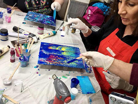 New Acrylic Pouring Introduction Workshop – Saturday – 21st September