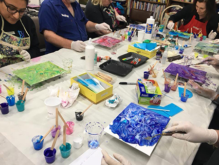 Acrylic Pouring Intermediate – Saturday, 28th March