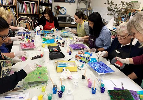 Reminder: MC College Acrylic Pouring Introduction 25th May – Saturday