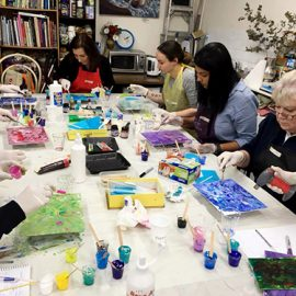 MC College Acrylic Pouring Medium Workshop 27th October Saturday