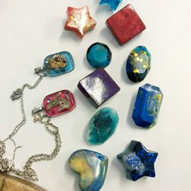 NOTE: THIS WORKSHOP WILL BE POSTPONED Resin Jewellery Workshop – Saturday, 21st March