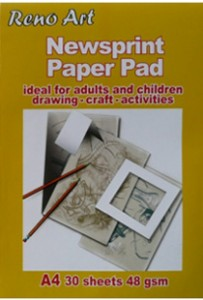Reno-Newspaper-pad-A3-richmond-art-supplies
