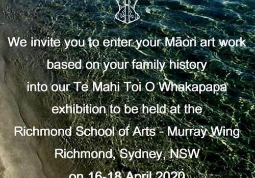 Te Mahi Toi O Whakapapa 2020 Exhibition: 16th – 18th April