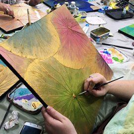 Lotus Leaf Painting Workshop – Saturday, 7th November 2020