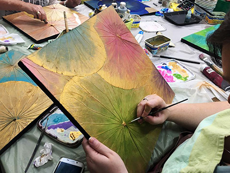 Lotus Leaf Painting Workshop Sat 27th April