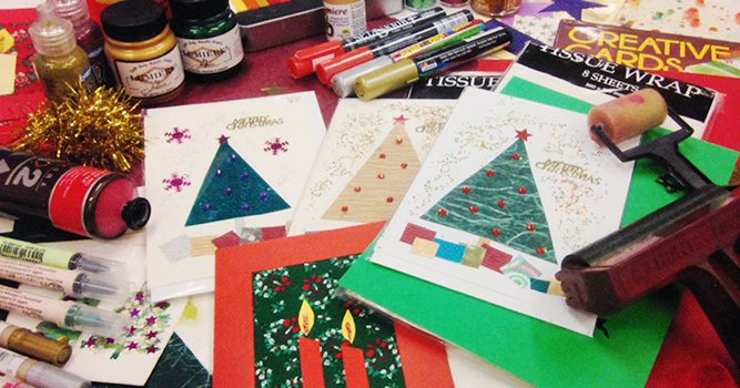 MC College Christmas Card & Wrap Workshop 1st December Saturday