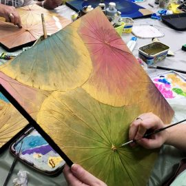 Lotus Leaf Painting Workshop 25th August Saturday