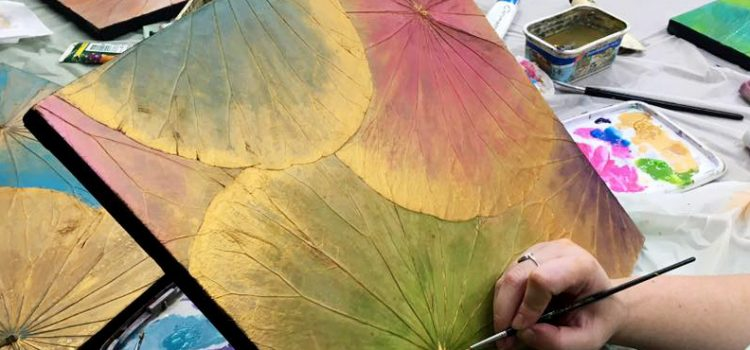 FOHacaRG Lotus Leaf Painting Workshop – Sunday, 5th August