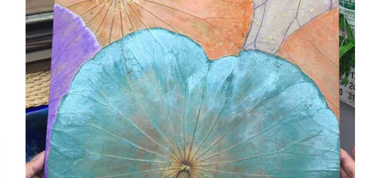 Reminder: Lotus Leaf Painting Workshop 25th August Saturday