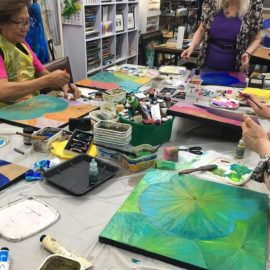 Lotus Leaf Painting Workshop 22nd September Saturday