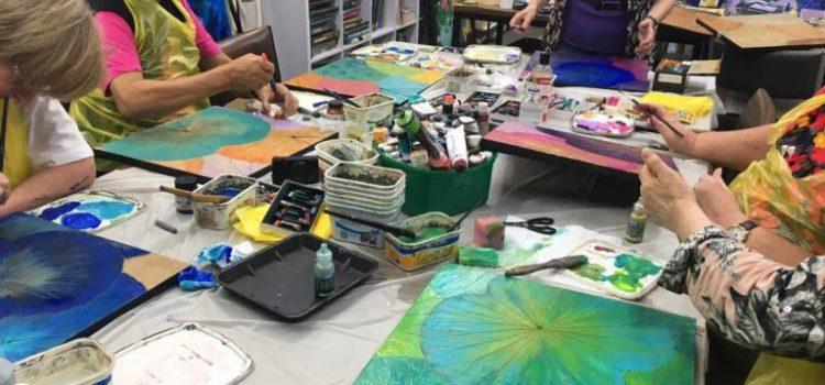 Lotus Leaf Painting Workshop 22nd September Saturday
